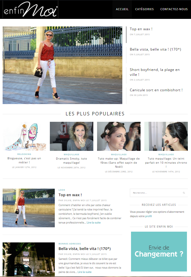 Blog Enfin Moi Version 2|Créé en 2014 par Leaf It