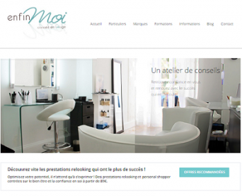Site vitrine Enfin Moi version 2| Créé en 2012 par Leaf It